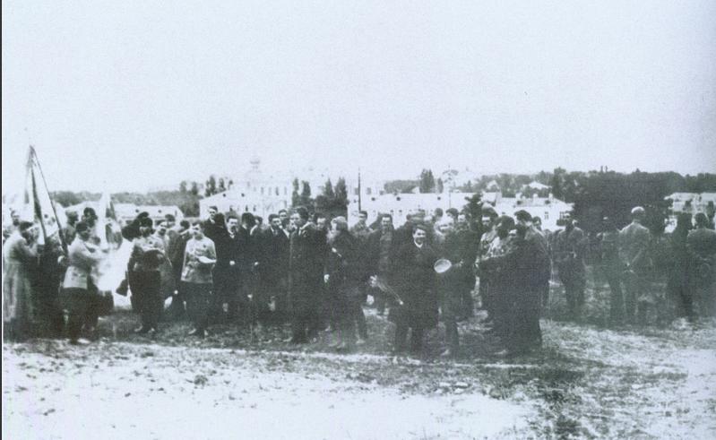 Бойцы армии УНР на присяге. 1919