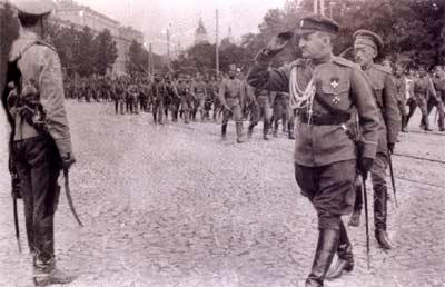 Военый парад в Киеве.1918 год