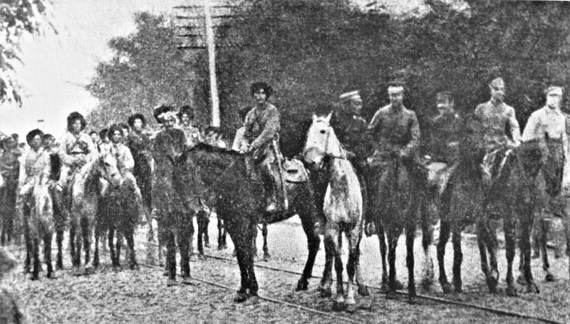 Встреча махновцев и сечевых стрелков возле Умани. 1920