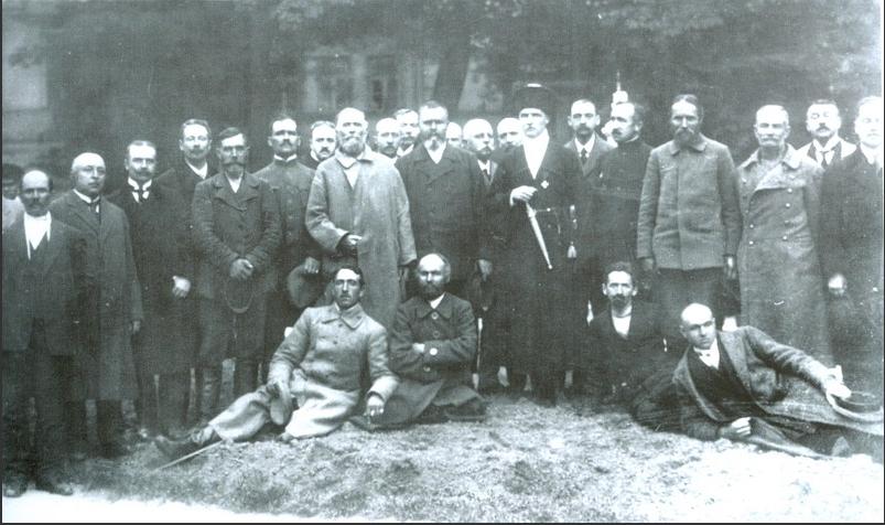 Гетман Скоропадский на съезде крестьян-земледельцев. 1918