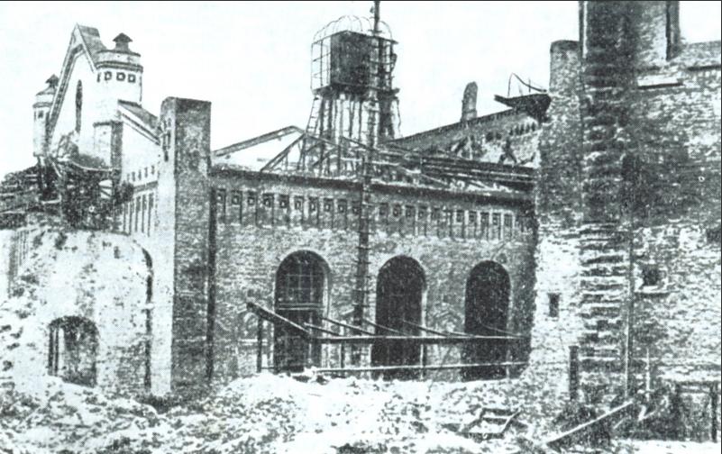 Киевские железнодорожные мастерские после январских боев 1918