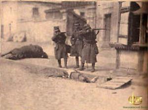 Немецкие солдаты во время боев в Николаеве.