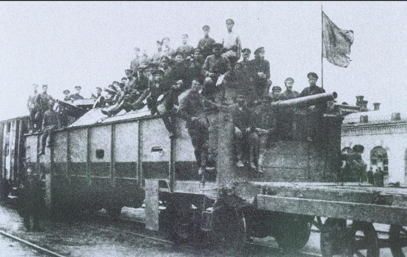 Панцирный поезд атамана Григорьева. 1919