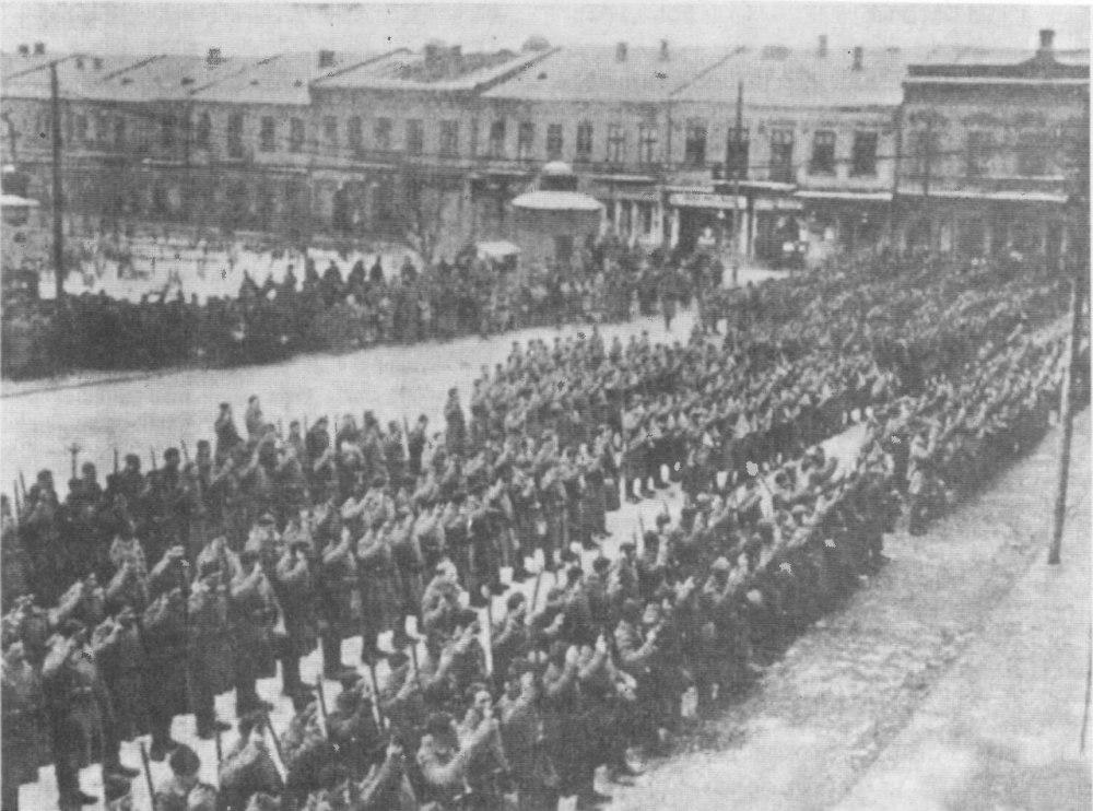 Присяга в Украинскую галицкую армию.Коломыя.1919.г