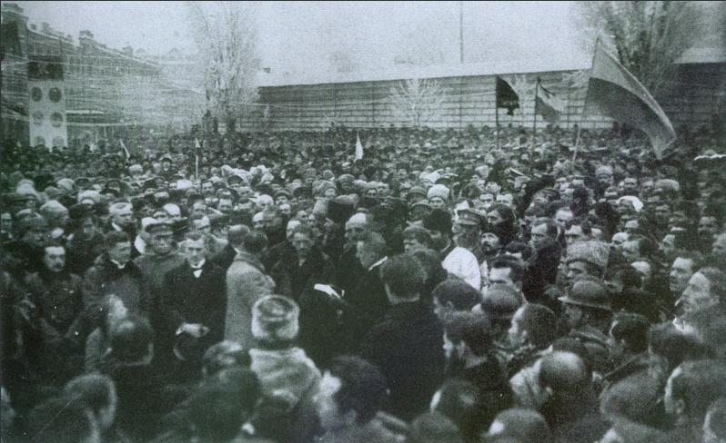 Провозглашение Декларации Директории на Софийской площади. 1918