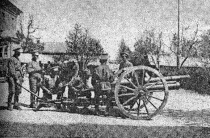 Солдаты УНР во время Крымской операции.