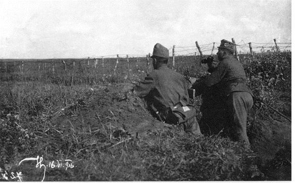 УСС на боевих позициях. 1916 год