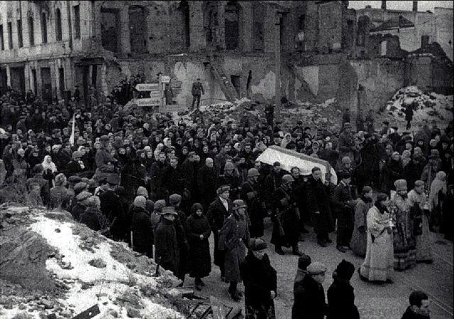 Почётные похороны бургомистра Минска Ивановского, декабрь 1943 года
