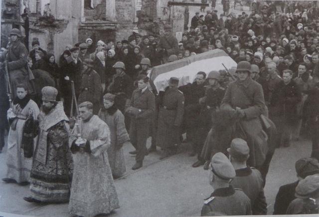 Почётные похороны бургомистра Минска Ивановского, декабрь 1943 года 1