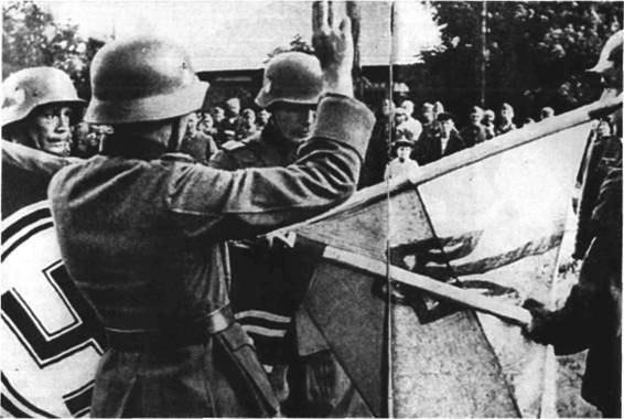 Присяга добровольцев Украинской освободительной армии (УВВ). Донбасс, Миус-фронт, 1943.